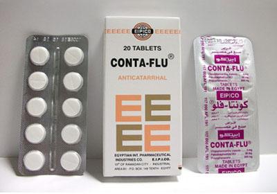 كونتافلو أقراص لعلاج أعراض البرد والانفلونزا Conta-Flu Tablets