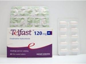 تلفاست أقراص لعلاج الامراض الجلدية Telfast Tablets