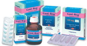 جاست ريج أقراص وشراب ولبوس لعلاج اضطرابات الجهاز الهضمى Gast-Reg