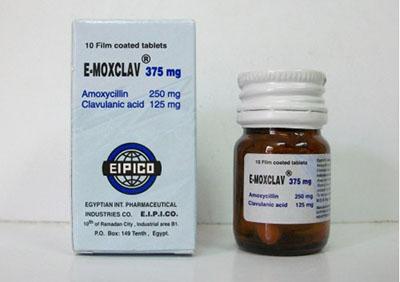 ايموكسكلاف أقراص شراب مضاد حيوي واسع المجال E-Moxclav Tablets