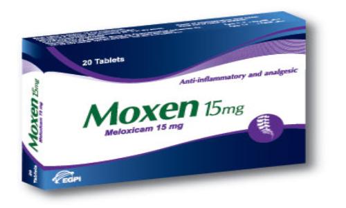 موكسن أقراص مضاد للالتهابات ومسكن للآلام Moxen Tablets