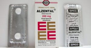 الزنتال أقراص شراب قاتل الديدان واسع المجال Alzental Tablets