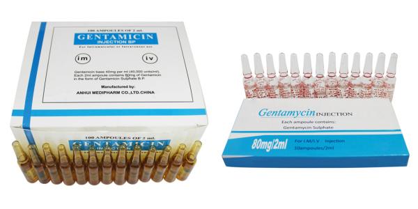 جنتاميسين أمبولات حقن مضاد حيوى واسع المجال Gentamicin Ampules