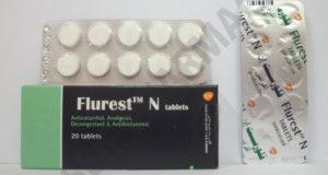 فلورست إن أقراص لعلاج البرد الأنفلونزا Flurest N Tablets