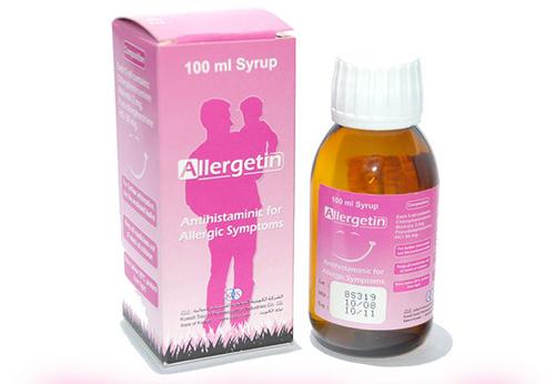 أليرجيتين شراب لعلاج الجيوب الانفية وحمى القش Allergetin Syrup