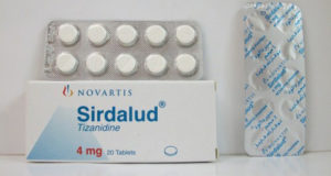 سيردالود أقراص لعلاج التقلصات العضلية وارتخاء العضلات Sirdalud Tablets