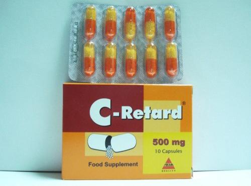 سى ريتارد كبسولات فيتامين سى للبرد والزكام C Retard Capsules