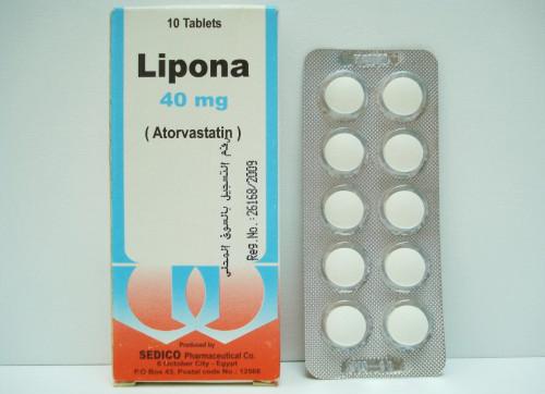ليبونا أقراص لخفض نسبة الكوليسترول فى الدم Lipona Tablets