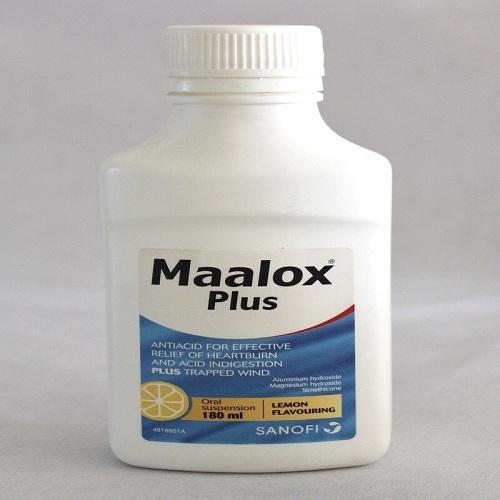 سعر مالوكس بلس شراب MAALOX PLUS 180ML SUSP.