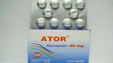 أتور أقراص لتنظيم الدهون وخفض نسبة كوليسترول بالدم Ator Tablets