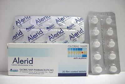 اليريد أقراص شراب مضاد للحساسية والالتهابات Alerid Tablets