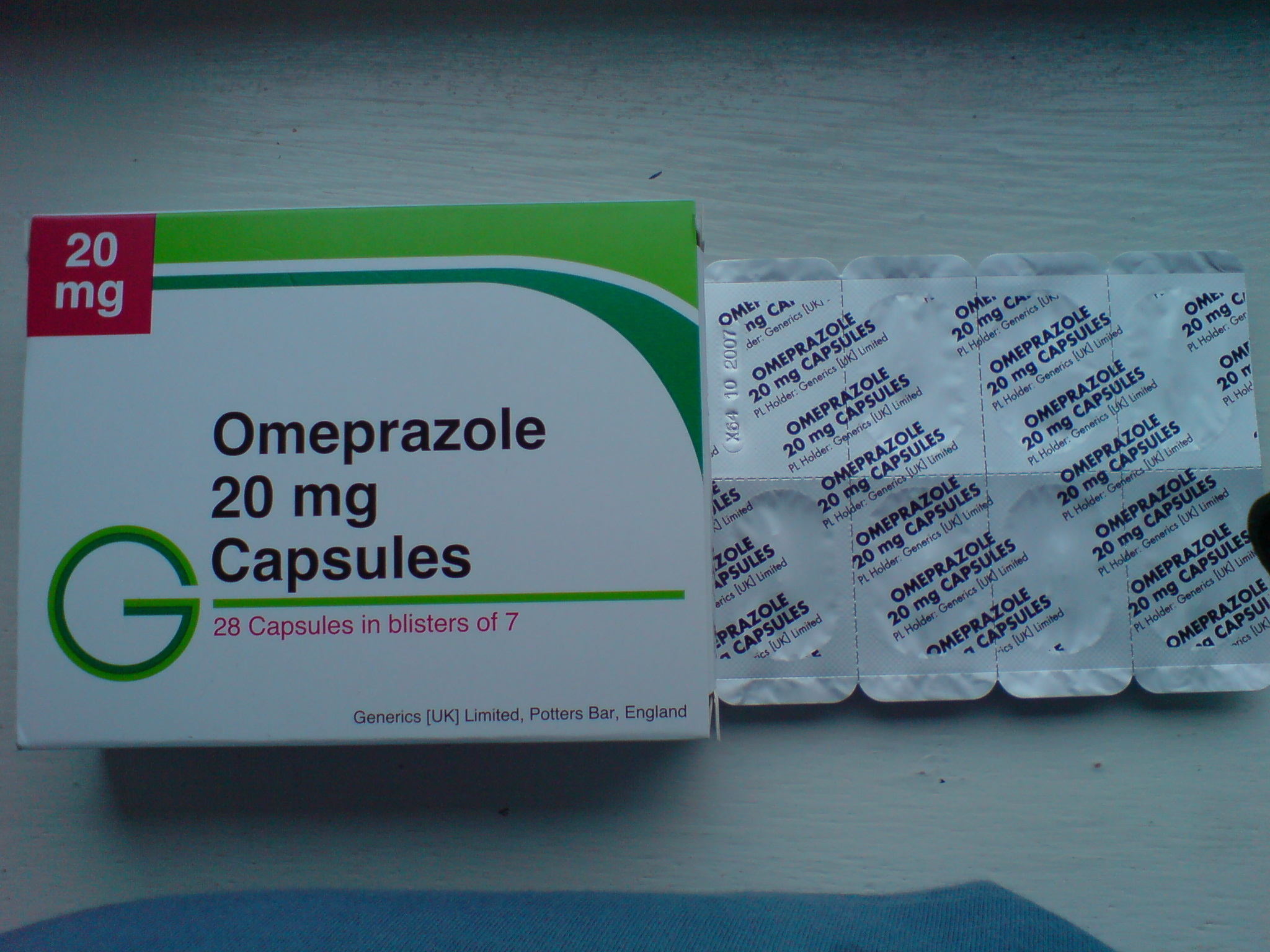 اومبيرازول Omeprazole 20mg