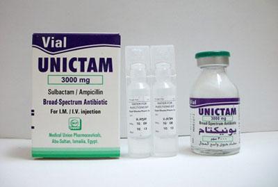 يونيكتام فيال حقن مضاد حيوي واسع المجال Unictam vial
