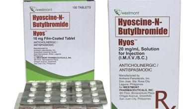 هيوسين بيوتيل بروميد أقراص لعلاج المغص وتقلصات المعدة Hyoscine Butylbromide