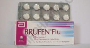 بروفين فلو أقراص شراب لعلاج نزلات البرد والانفلونزا Brufen Flu