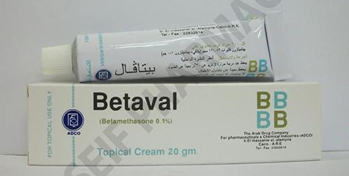 بيتافال كريم لعلاج التهابات الجلد Betaval Cream