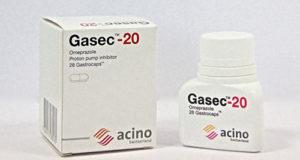 جازيك كبسولات لعلاج قرحة المعدة والحموضة Gasec Capsules