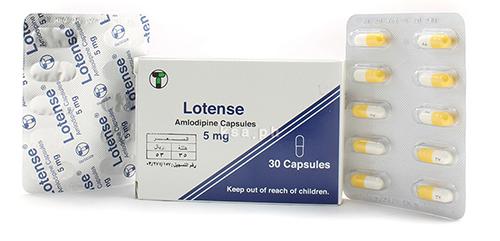 لوتنس كبسولات لعلاج ضغط الدم المرتفع والذبحة الصدرية Lotense Capsules