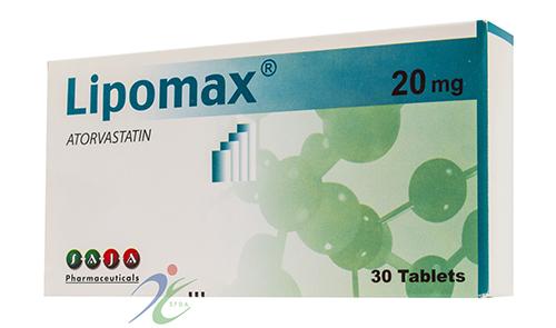 ليبوماكس أقراص لخفض نسبة الكوليسترول والدهون فى الدم Lipomax Tablets
