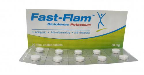 فاست فلام أقراص مسكن للالم ومضاد للالتهابات Fast Flam Tablets
