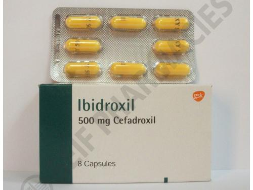 أبيدروكسيل كبسولات شراب مضاد حيوى واسع المجال Ibidroxil Capsules