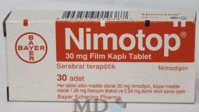 نيموتوب أقراص لعلاج تلف خلايا المخ Nimotop Tablets