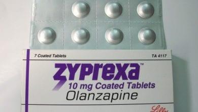 زايبركسا أقراص لعلاج مرضى الفصام ونوبات الهوس الاكتئابى Zyprexa Tablets
