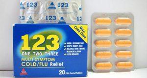 وان تو ثرى أقراص لعلاج أعراض البرد والانفلونزا One Two Three Tablets