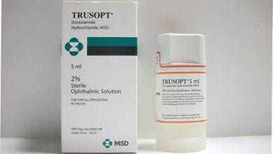تروسوبت قطرة للعين لعلاج الجلوكوما وإرتفاع ضغط العين Trusopt Eye Drops