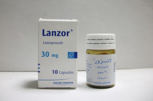 لانزور كبسولات لعلاج قرحة المعدة وارتجاع المرئ Lanzor Capsules