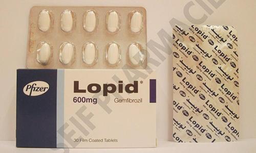 لوبيد أقراص لخفض مستوى الكوليسترول في الدم Lopid Tablets