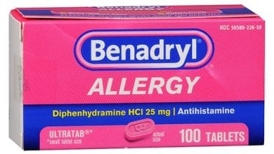 بينادريل أقراص لعلاج الأرق والاضطرابات النفسية Benadryl Tablets