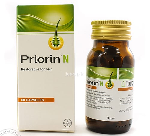 برايورين إن كبسولات لعلاج مشكلة تساقط الشعر Priorin N Capsules