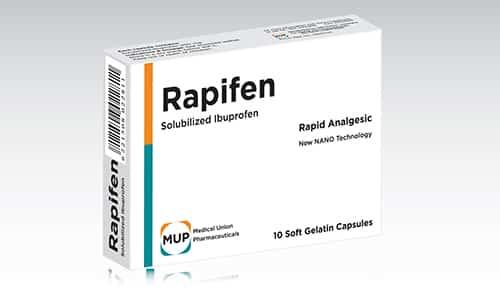 رابيفين كبسولات مسكن للالم وخافض للحرارة Rapifen Capsules