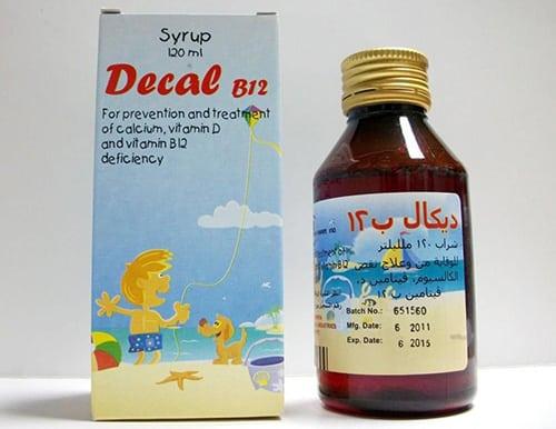 ديكال ب12 شراب لعلاج نقص الكالسيومDecal B12 Syrup