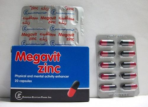 ميجافيت زنك كبسولات لتنشيط الذاكرة Megavate Zinc Capsules