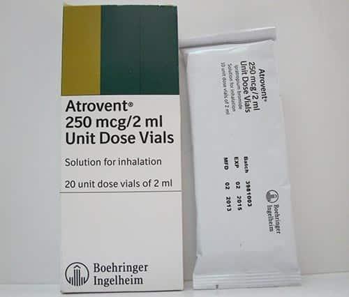 أتروفنت محلول لعلاج ضيق التنفس وموسع للشعب Atrovent Solution