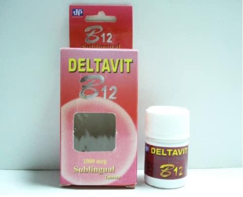 دلتافيت ب 12 أقراص لعلاج نقص فيتامين ب12 Deltavit b12 Tablets