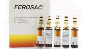 فروساك أمبولات لعلاج نقص الحديد في الجسم Ferosac Ampoules