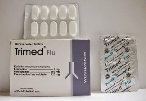 ترايمد فلو اقراص لعلاج نزلات البرد وحساسية الانف Trimmed Flo Tablets