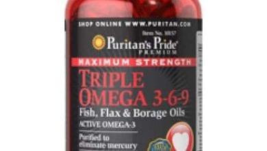 تريبل أوميجا كبسولات لبناء العضلات والتخسيسTriple Omega Capsules