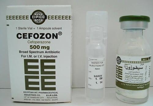 سيفوزون حقن مضاد حيوى واسع المجال Cefozon Injection