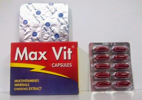 ماكس فيت كبسولات مقوىعام وفيتامين متعدد Max Vit Capsules