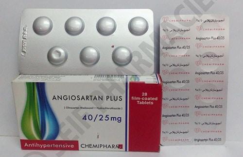 أنجيوسارتان بلاس أقراص لعلاج ضغط الدم المرتفع Angiosartan Plus Tablets