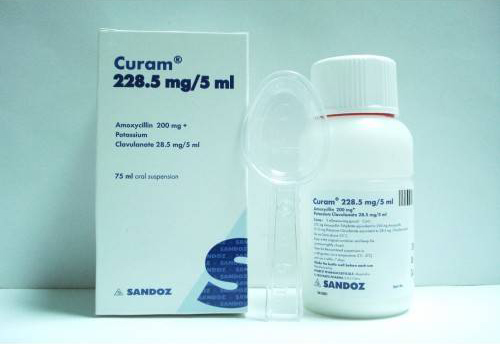 Curam 228.5 mg oral suspension
