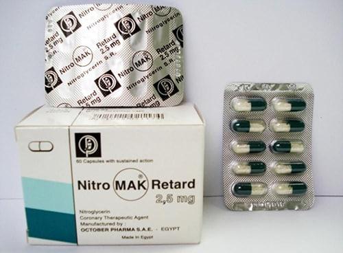 نيتروماك ريتارد كبسولات لعلاج أمراض القلب NitroMak Retard Capsules