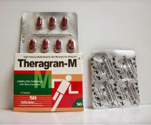 ثيراجران ام أقراص فيتامينات متعددة ومقوى عام Theragran M Tablets