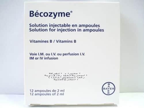 بيكوزيم حقن لعلاج نقص فيتامين ب وإلتهابات الاعصاب Becozym Injection
