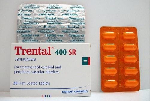 ترنتال إس آر أقراص لعلاج اضطرابات الدورة الدموية Trental SR Tablets