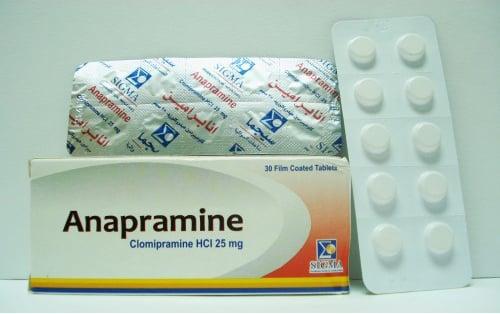 أنابرامين أقراص لعلاج سلس البول الليلى ومضاد للاكتئاب Anapramine Tablets